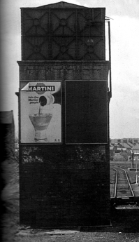 Railway Water Tank at Bridlington Station, c.1965