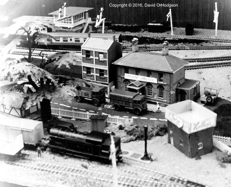 A portion of my falling-apart model railway, in 1973
