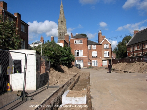 Trench in which the remains of King Richard III were found, Leicester