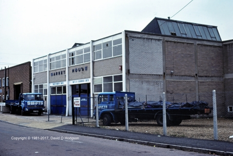 Swifts of Scarborough warehouse in Richmond, Surrey, 1981