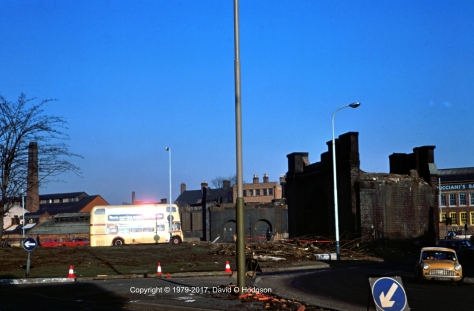 West Bridge Viaduct, Leicester, January 1979