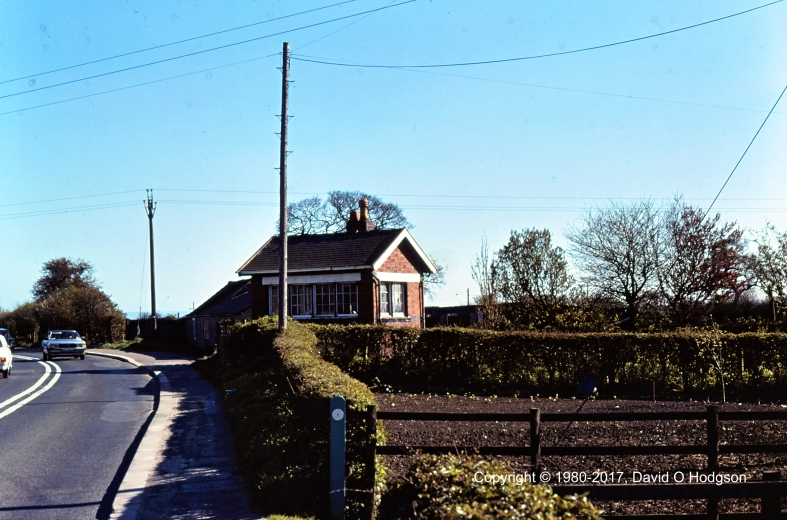 Disused Signal Box at Eastgate Crossing, Pickering, in 1980