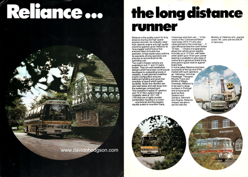 Leyland Reliance Brochure, 1978