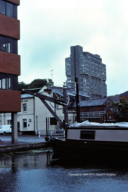 Old and New. Aylesbury Canal Wharf, with the County Offices building beyond