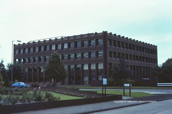 Insurance Building on Gatehouse Road, Aylesbury, in 1980