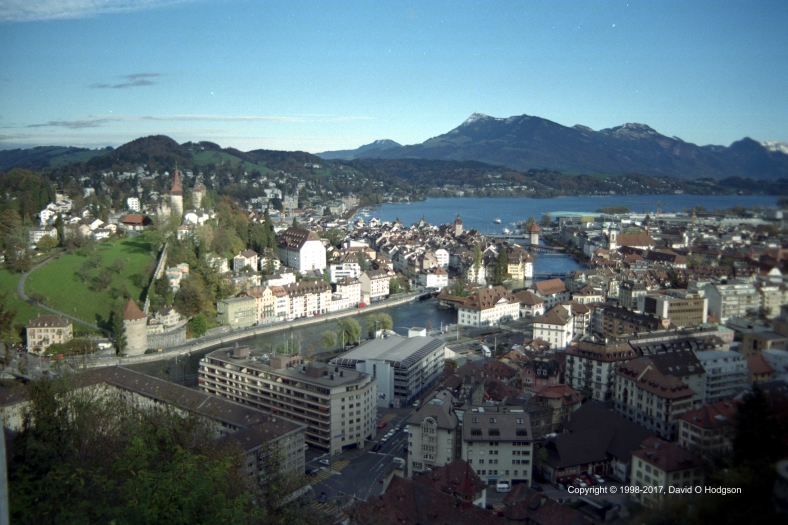 Lucerne from the Hotel Château Gütsch