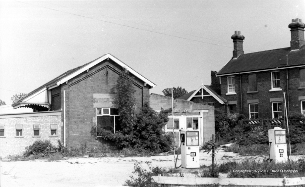Sawdon Station Goods Shed during Demolition work