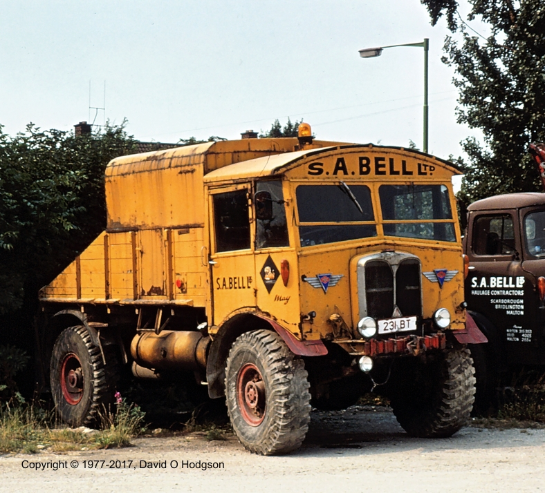 """AEC Matador """"May"""" of S A Bell, Malton, 1977"""