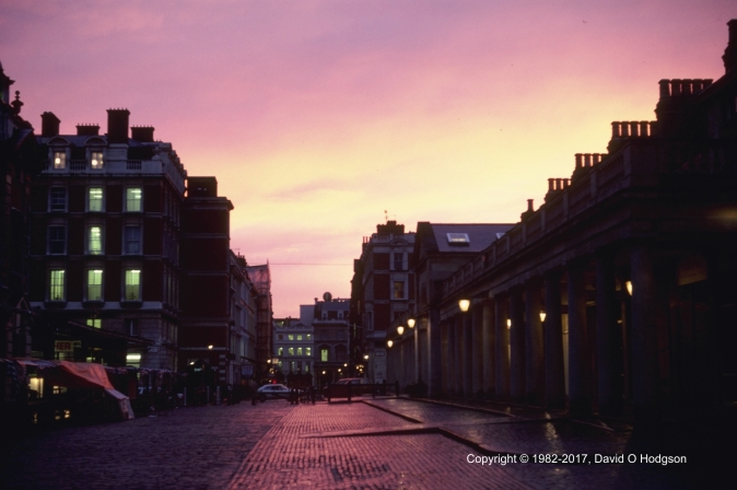 Covent Garden after the Rain, 1982
