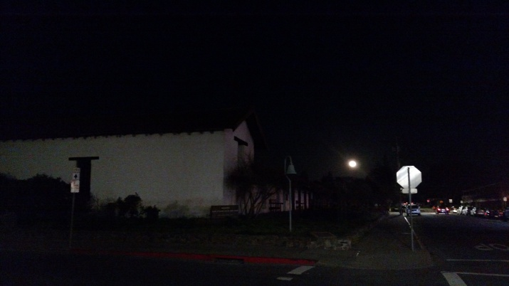 Sonoma Mission with Full Moon