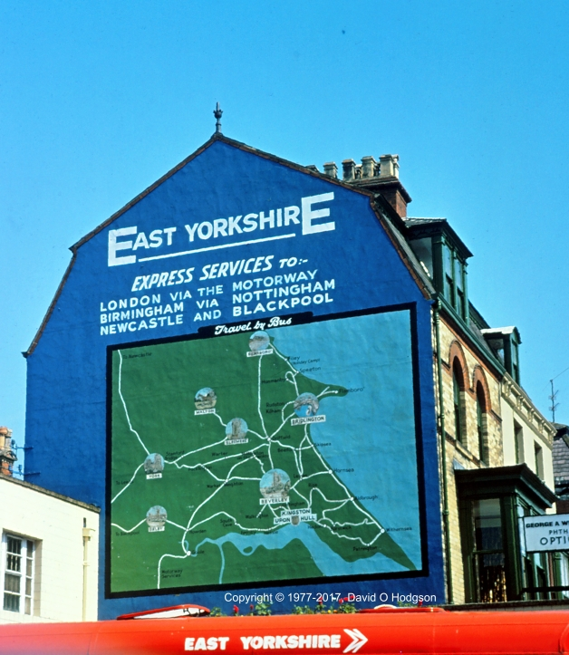 East Yorkshire Wall Map, Bridlington, 1977