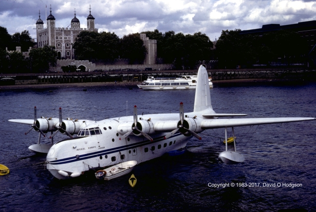 Short Sunderland at the Tower of London, 1983