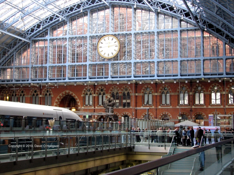 Interior of St. Pancras International Station, 2010