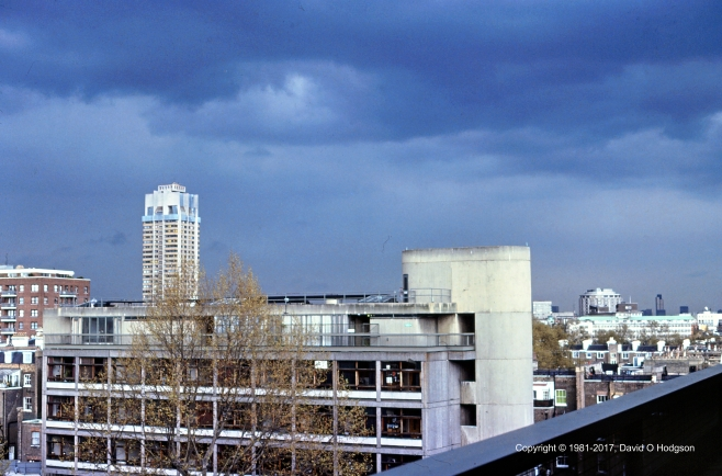 Thunder over South Kensingtion, 1981. View over Imperial College and Knightsbridge Barracks