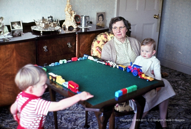 Playing with Dinky and Corgi Cars, 1963