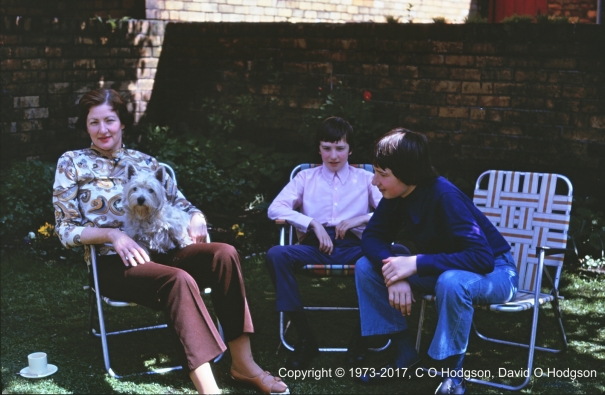 Tea in the Garden, West Street, Scarborough, June 1973