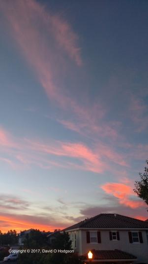 Sunset Clouds, Santa Rosa, June 2017
