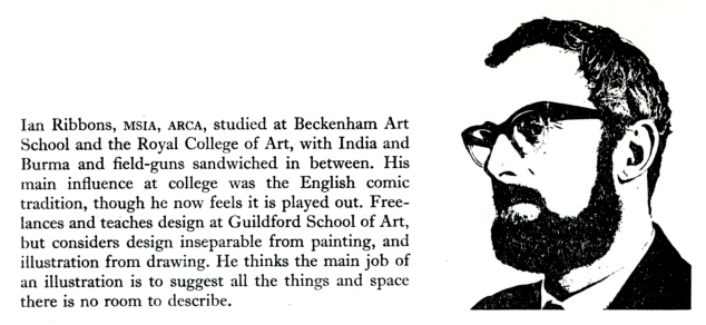 "Ian Ribbons Biography from ""Illustrators at Work"""
