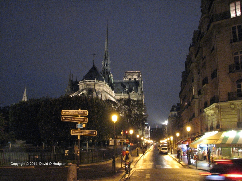 Notre Dame on a Rainy Evening, 2014