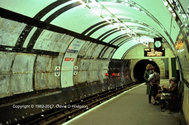 Aldwych Station, 1982