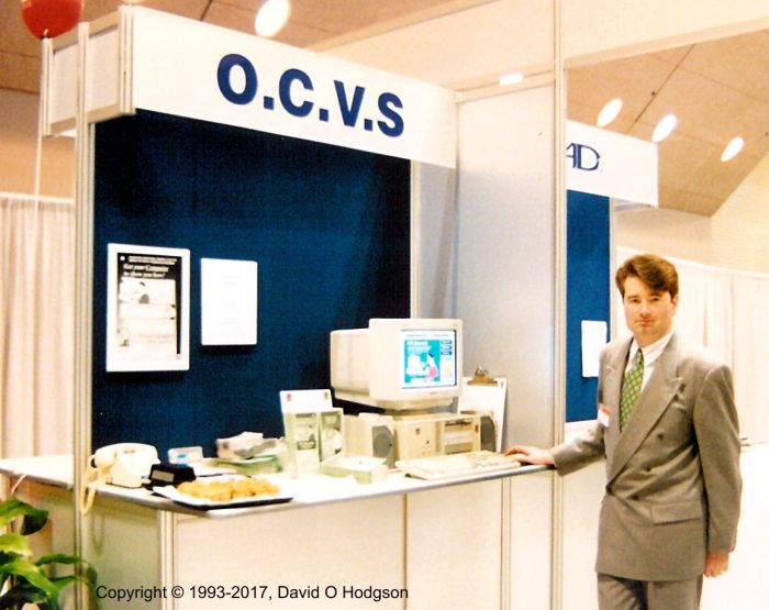 OCVS Booth, Windows Solutions Conference 1993