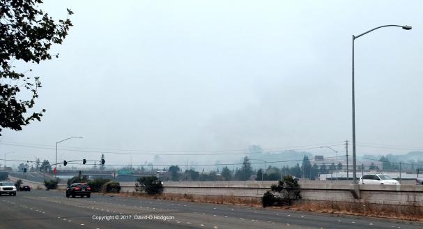 Hilton Hotel burning, Santa Rosa