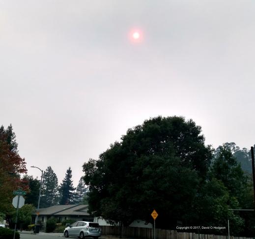 Smoke-shrouded Sun