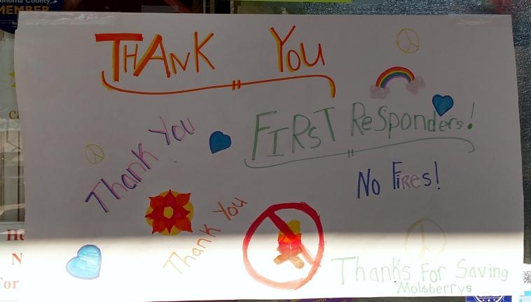 Thankyou Poster at Molsberry Market