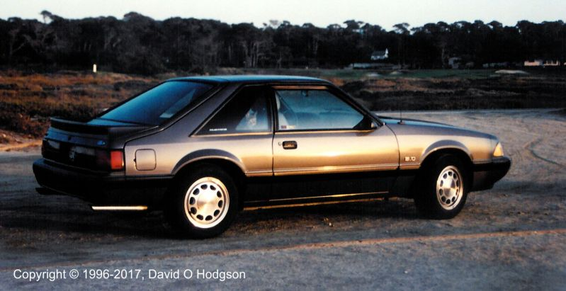 My 1989 Ford Mustang, in Monterey