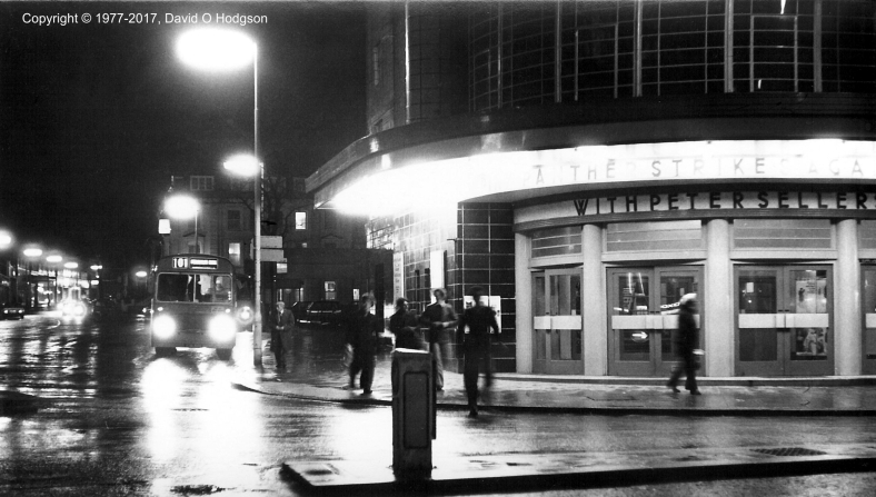 Scarborough Odeon at night, 1977