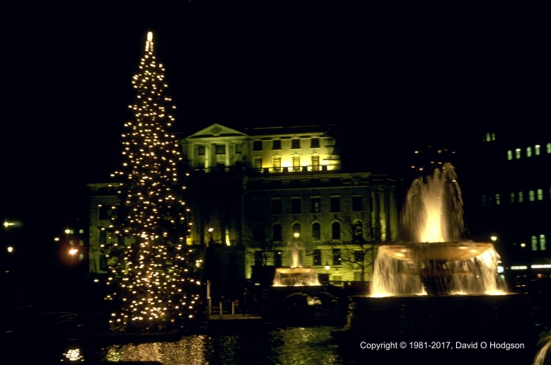 Trafalgar Square, London, at Christmas