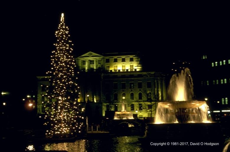 Trafalgar Square, London, at Christmas