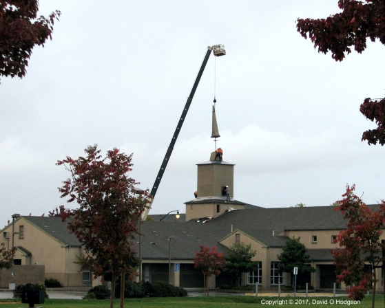 Mounting the Cellphone Antenna on the Church