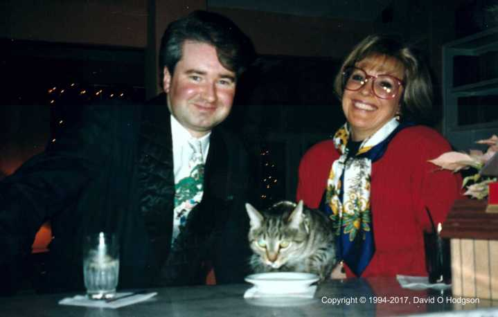 Mary, Nikki & Me at the Cypress Inn bar, Christmas 1994