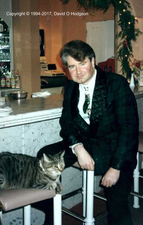 David Hodgson and Nikki, at the Cypress Inn, Christmas 1994