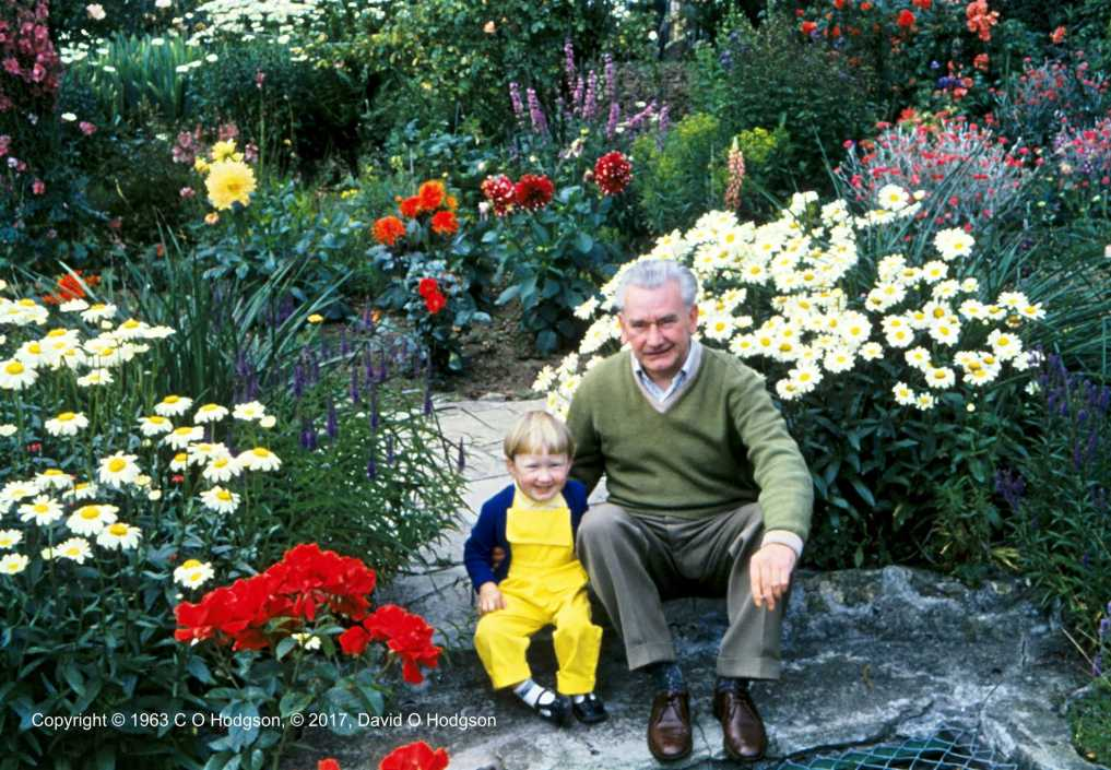 My Father with Me in our Back Garden, 1963
