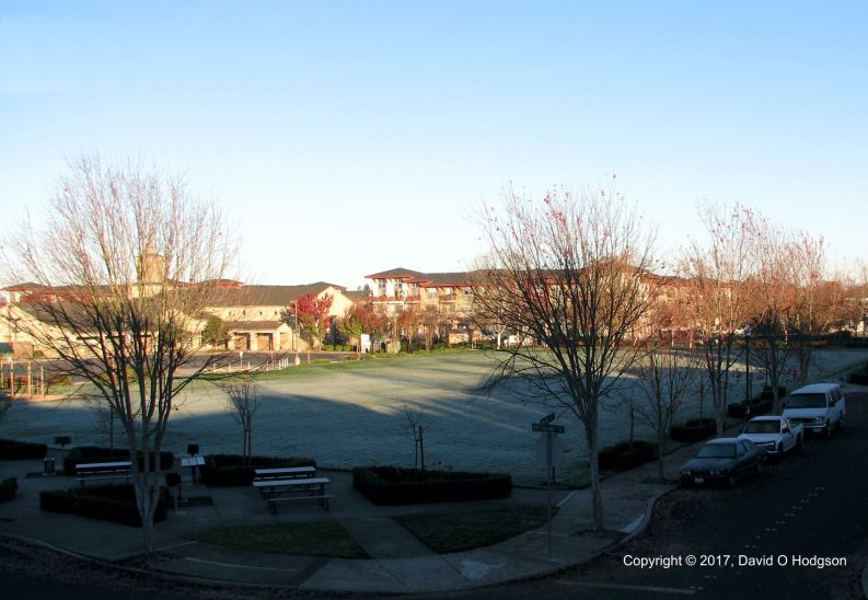 Village Green Park with Frost