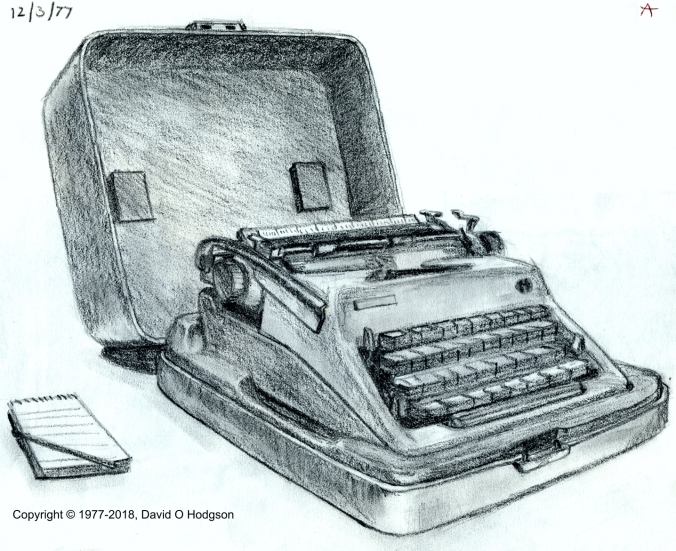 My Pencil Drawing of our Typewriter, 1977