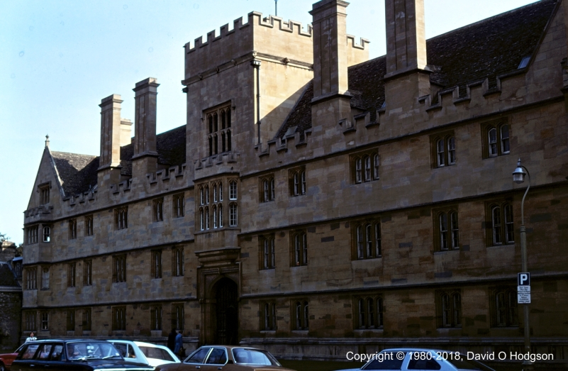 Wadham College, Oxford, during my Interview in 1980