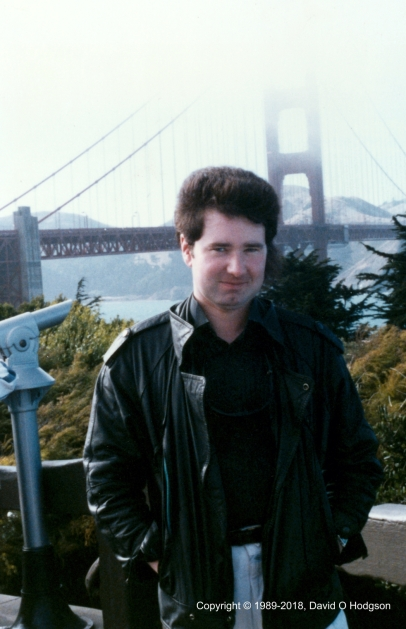 David at the Golden Gate Bridge - with hideous Mullet!