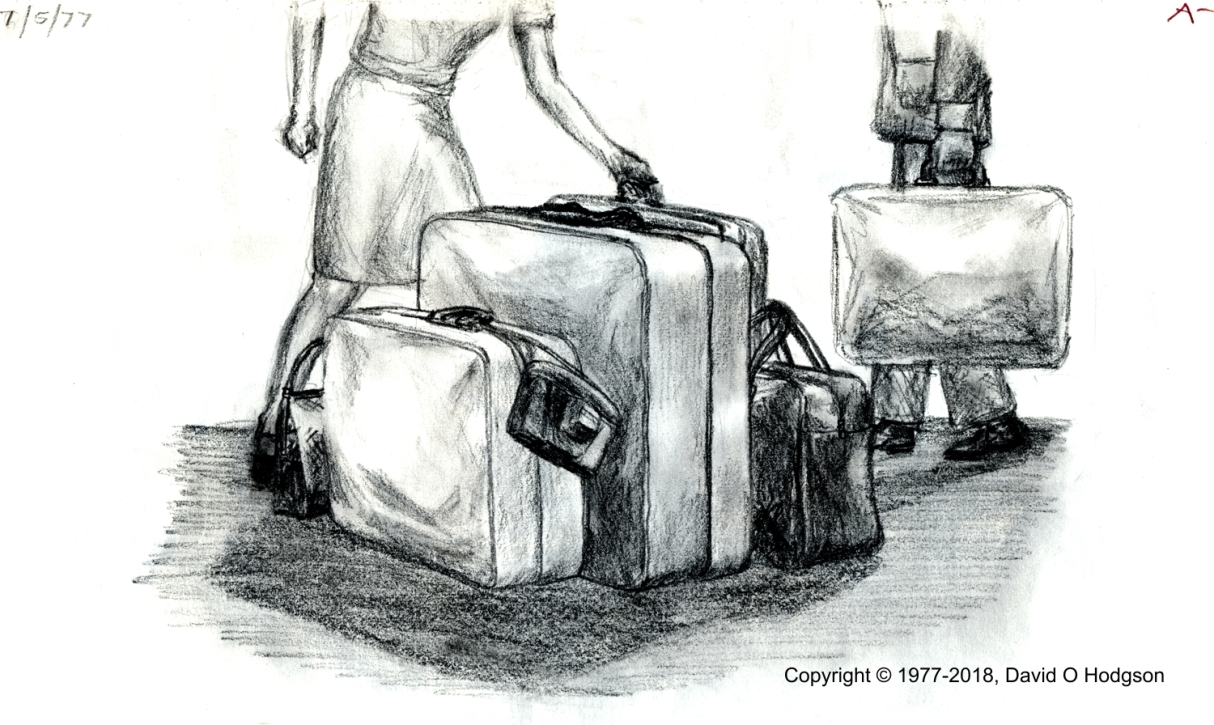 Luggage As It Was: Pencil Drawing, 1977