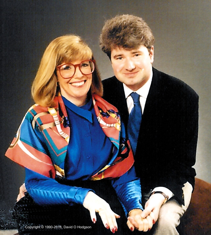 Mary & David in Scarborough, 1990