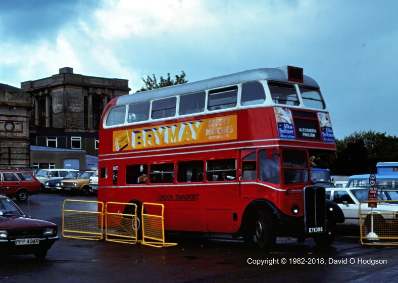 London Transport RT 1 at Alexandra Palace, 1982
