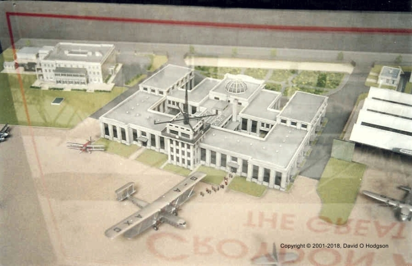 Model of Croydon Airport during the 1930s