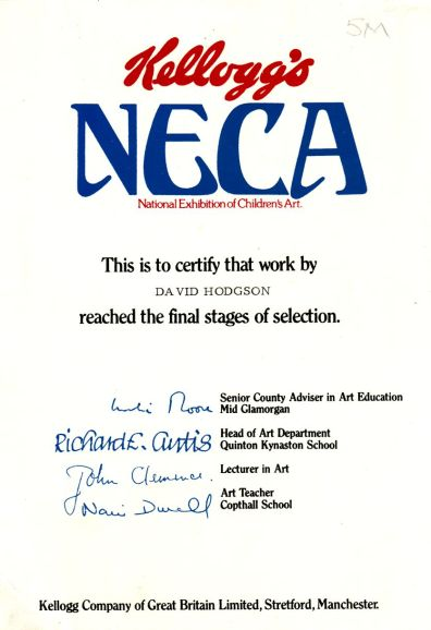 The Undated NECA Runners-Up Certificate
