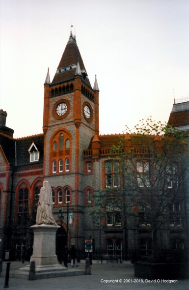 Reading Town Hall, Following an External Cleaning, in 2001