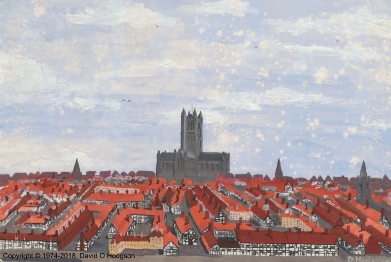 Townscape 1550, painted in school at age 14