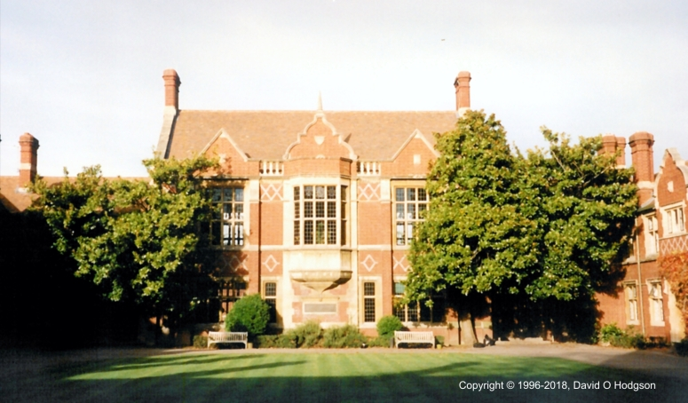 Wantage Hall, University of Reading, 1996
