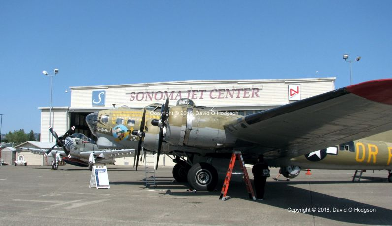 B-17 Flying Fortress at Sonoma Jet Center