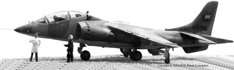 1:72 Model of Hawker Harrier T.2 Demonstrator G-VTOL
